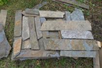 MORAVSKÁ BŘIDLICE zdící kameny - tenké